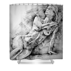 Erotic Sketchbook Page 2 Shower Curtain