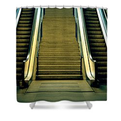 Escalators And Stairs Shower Curtain by Joana Kruse