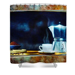 Espresso  Shower Curtain by Mauro Celotti