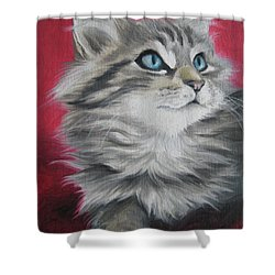 Shower Curtain featuring the painting Estrella by Jindra Noewi