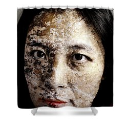 Etched In Stone Shower Curtain by Christopher Gaston