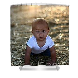Ethan Sunset Shower Curtain by Mark Robbins