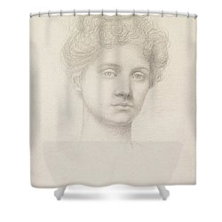 Ethel Pickering Shower Curtain by Evelyn De Morgan