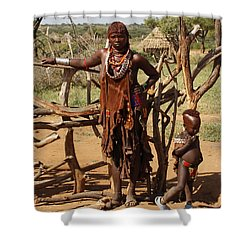 Ethiopia-south Mother And Baby No.2 Detail B Shower Curtain