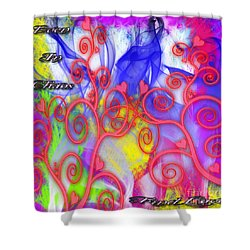 Shower Curtain featuring the digital art Even In Chaos Find Love by Clayton Bruster