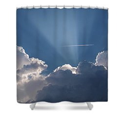 Even Through The Clouds You Will Find A Ray Of Sunshine Shower Curtain