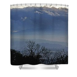 Evening At Grants Pass Shower Curtain by Mick Anderson