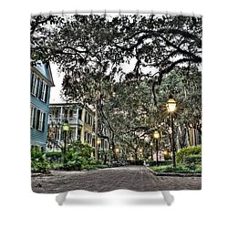Evening Campus Stroll Shower Curtain