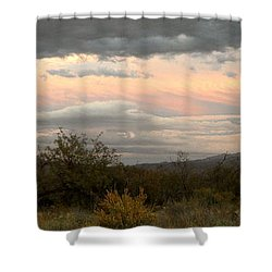 Evening In Tucson Shower Curtain by Kume Bryant