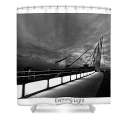 Shower Curtain featuring the photograph Evening Light by Beverly Cash