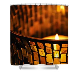 Shower Curtain featuring the photograph Evening Light by Julia Wilcox