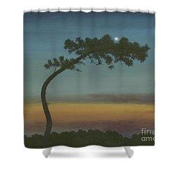 Evening Sky At Kiawah Shower Curtain