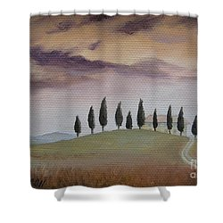 Evening Tuscany Shower Curtain
