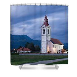 Evening Twilight Shower Curtain by Ian Middleton