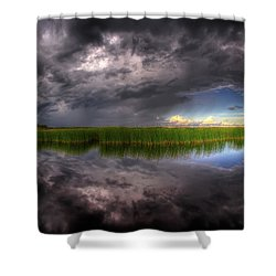 Everglades Reflection Shower Curtain