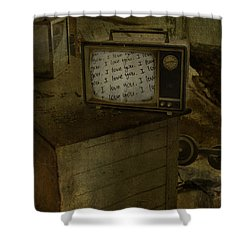 Every Channel Of Love Shower Curtain by Jerry Cordeiro