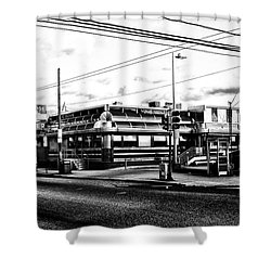 Everybody Goes To Melrose - The Melrose Diner - Philadelphia Shower Curtain by Bill Cannon