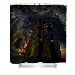 Evil Speaking Shower Curtain by Alessandro Della Pietra