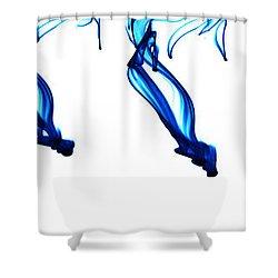 Evolution Of Orgasm Shower Curtain by Sumit Mehndiratta