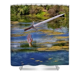 Excalibur Shower Curtain by Dominic Piperata