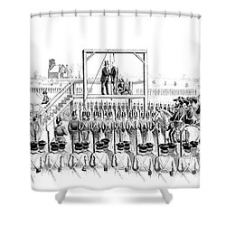 Execution Of John Brown, American Shower Curtain by Photo Researchers