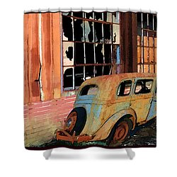 Shower Curtain featuring the photograph Executive Parking by Larry Bishop