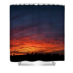 Expansive Sunset Shower Curtain by Art Whitton