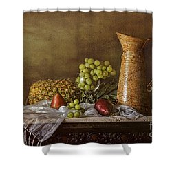 Exploring Still Life Shower Curtain by Sari Sauls