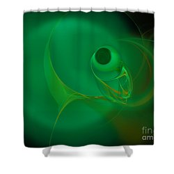 Shower Curtain featuring the digital art Eye Of The Fish by Victoria Harrington