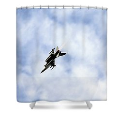 F-16 Of The Belgian Air Force Shower Curtain by Luc De Jaeger