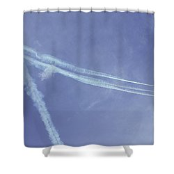 F16s In Formation Shower Curtain