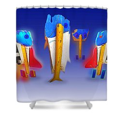 Fab Four Shower Curtain by Charles Stuart