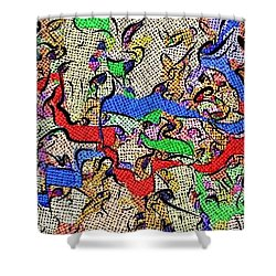 Shower Curtain featuring the digital art Fabric Of Life by Alec Drake