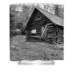 Fabyan Guard Station - White Mountains New Hampshire Usa Shower Curtain by Erin Paul Donovan