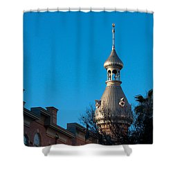 Shower Curtain featuring the photograph Facade And Minaret by Ed Gleichman