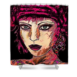 Face 13 Shower Curtain by Natalie Holland