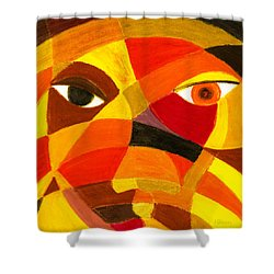 Face 45 Shower Curtain by Hakon Soreide