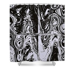 Faces Of Tormented Souls Shower Curtain by DigiArt Diaries by Vicky B Fuller