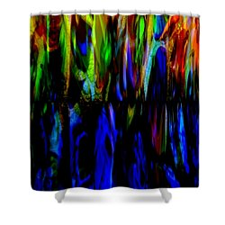 Fade To Blue Shower Curtain by Angelina Vick