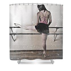 Faded Ballerina Shower Curtain by Scott Sawyer