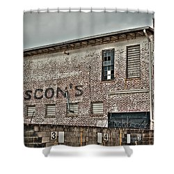 Faded Facade Shower Curtain