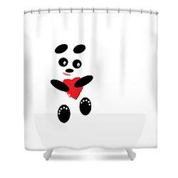 Fading Like A Flower. Panda In Love. #01 Shower Curtain by Ausra Huntington nee Paulauskaite