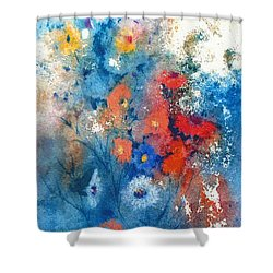 Shower Curtain featuring the painting Faerie Flowers by Joan Hartenstein