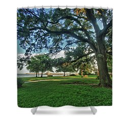 Fairhope Lower Park 4 Shower Curtain by Michael Thomas