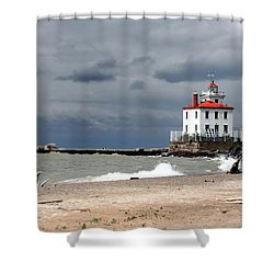 Fairport Harbor Beach Shower Curtain