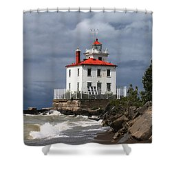 Fairport Harbor West Breakwater Lighthouse Shower Curtain