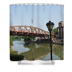 Shower Curtain featuring the photograph Fairport Lift Bridge by William Norton