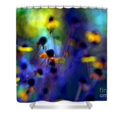Fairyland Painting Shower Curtain by Andrea Kollo
