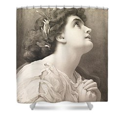 Faith Shower Curtain by Frederic Leighton