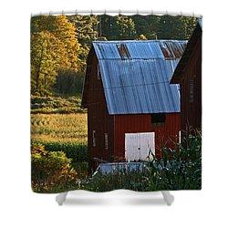 Fall Barns Shower Curtain